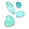 Lucite Assorted Spacer Beads Aqua - 35 Grams